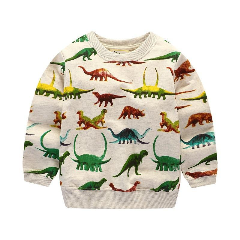 Baby boys long sleeve cotton t shirt high quality children clothing printed dinosaur t shirt toddler tops for kids boy