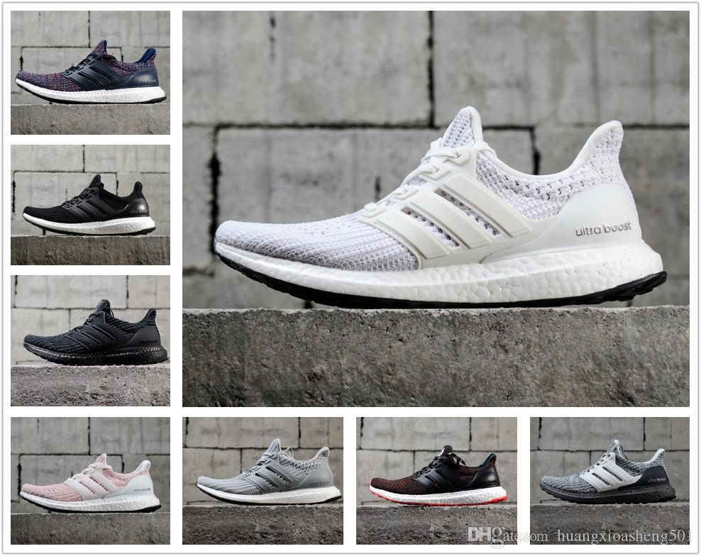 308c43f808575 2019 Ultra Boost 3.0 4.0 Triple Black And White Primeknit Oreo CNY Blue  Grey Men Women Running Shoes Ultra Boosts Ultraboost Sport Sneakers From ...