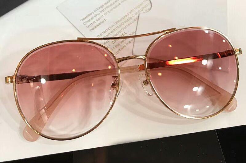 40ca8c3a86 Compre 4602 Gafas De Sol Redondas De Oro Lente Rosa Ahumada Mujeres  Diseñador De Lujo Gafas De Sol Desgaste De Los Ojos Uv400 Nuevo Con Estuche  A $60.92 Del ...