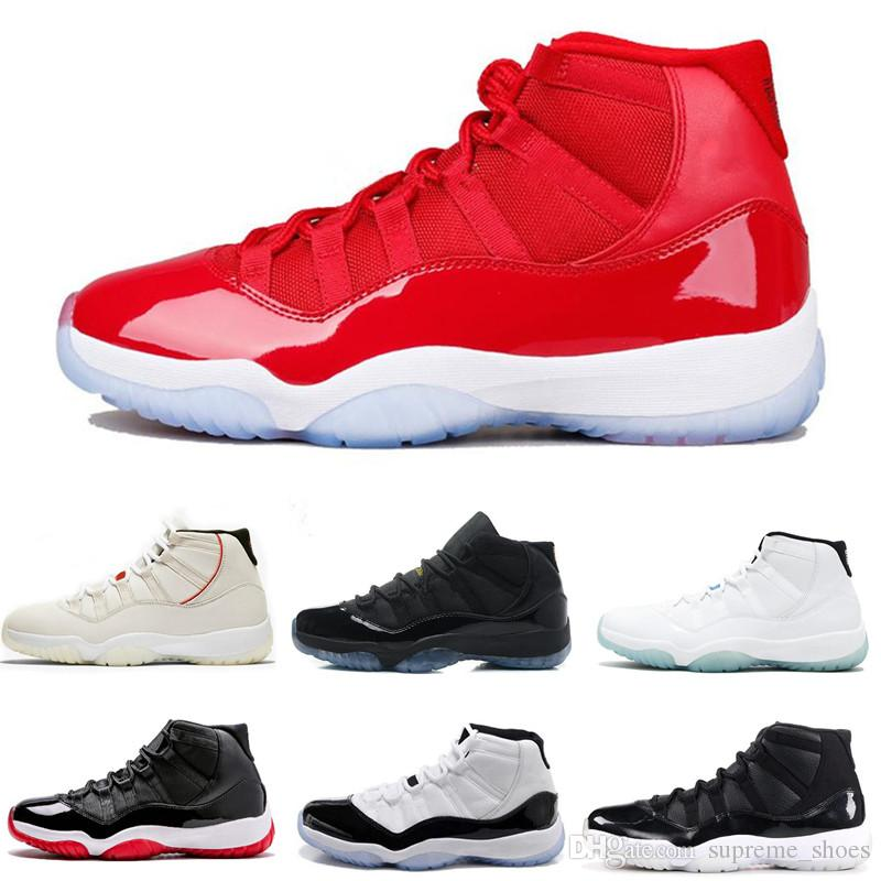 2019 Original Basketball Shoes 11 Platinum Tint 11s Concord Prom Night Gym  Red Cap And Gown Concord 45 Bred Women Men Sports Shoes Sneakers From ... 2a97d4ce13c7