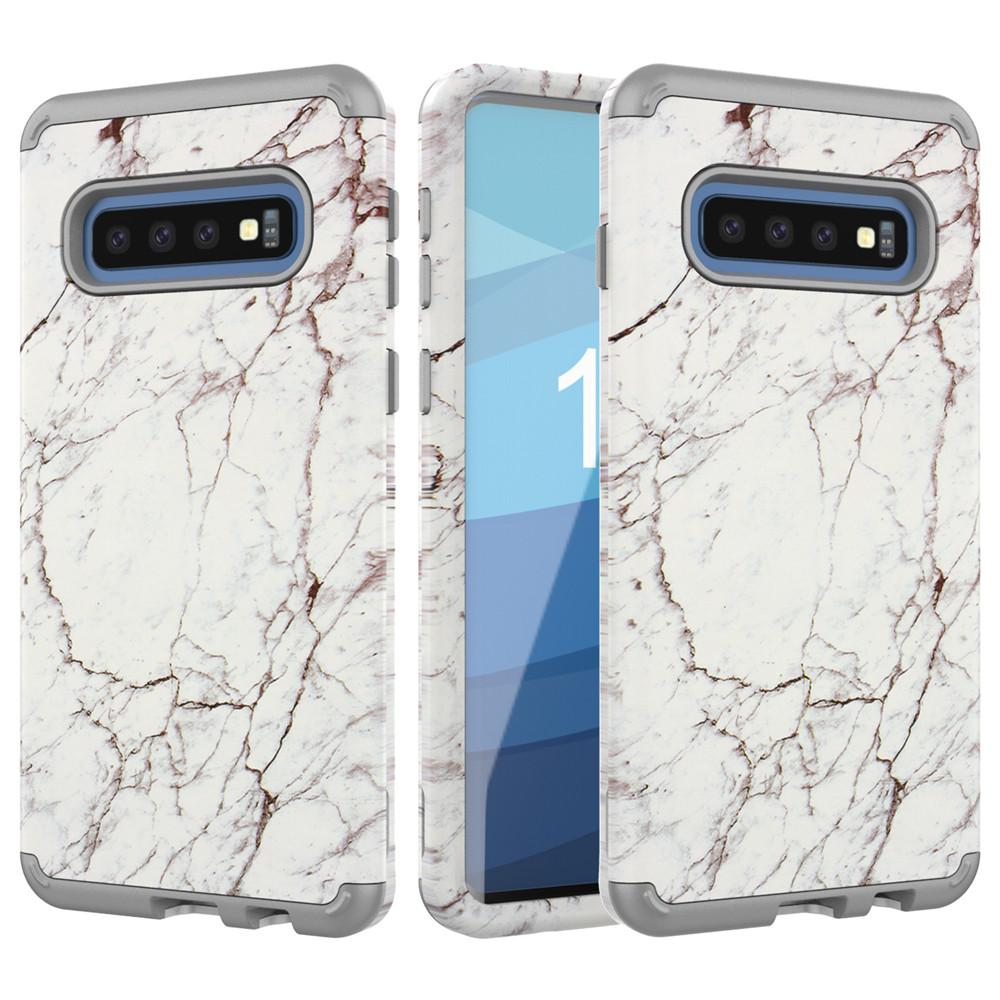 sports shoes 5c8f9 bd1b6 For Samsung S10 Plus Case Luxury Marble Phone Cases Heavy Duty Dual-Layer  Full Body Protective Case for Samsung Galaxy S10 S10 Lite