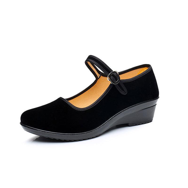 Compre Bombas De Mujer De Primavera Zapatos De Tacón Bajo Negros Y Rojos  Zapatos Mary Jane Bombas Desnudas Zapatos De Tela Para Damas Mujeres De  Confort ... 5f22102beba0