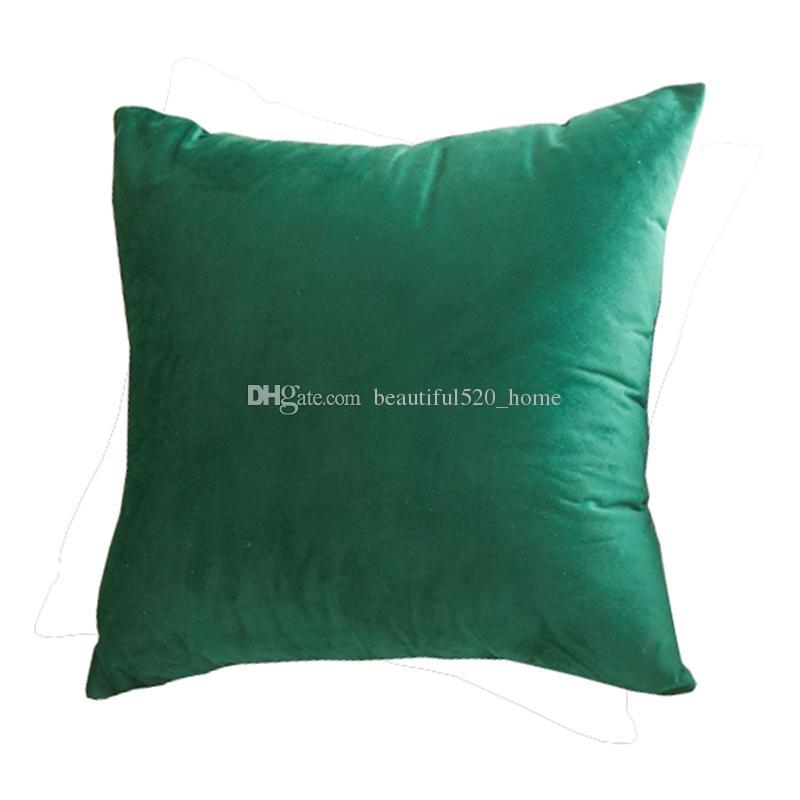 18 X 18 Velvet Cushion Cover Square Sofa Decorative Pillow Cases