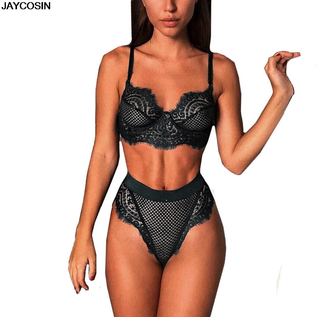 ed11955b022 JAYCOSIN New Women Sexy Lace Lingerie Buckle Set Underwear Bra Thong  Sleepwear Nightwear Everyday Wire Free Tube Tops SALE 9426