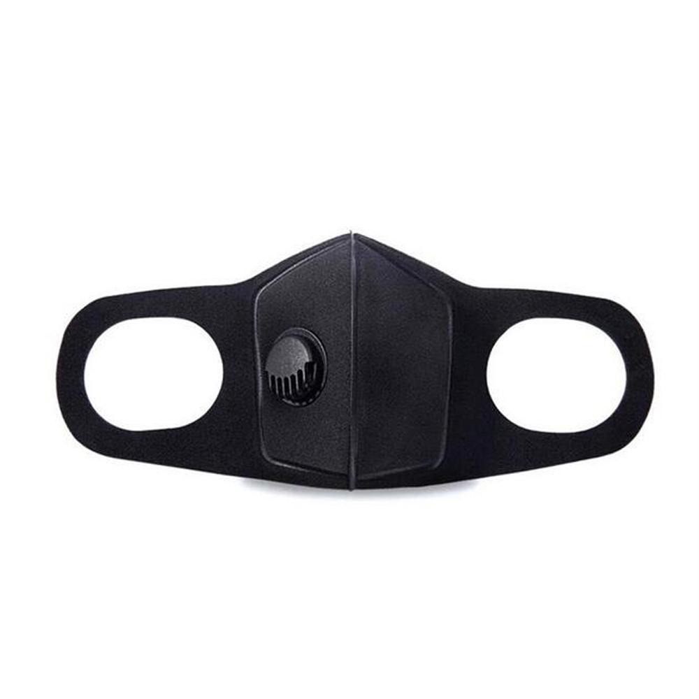 밸브 PM2.5 호흡와 블랙 안티 먼지 마스크 보호 얼굴 입 코튼 마스크 호흡기 세척 재사용 방지 안개 안개 새로운 필터