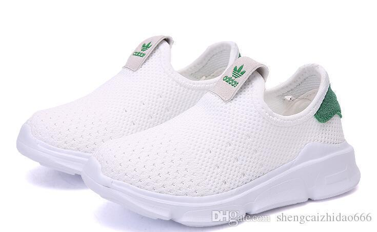 New Children Running Shoe Classic Design Baby Kids Sports Shoes White Casual Sneakers Athletic Trainers,size 25-36 06