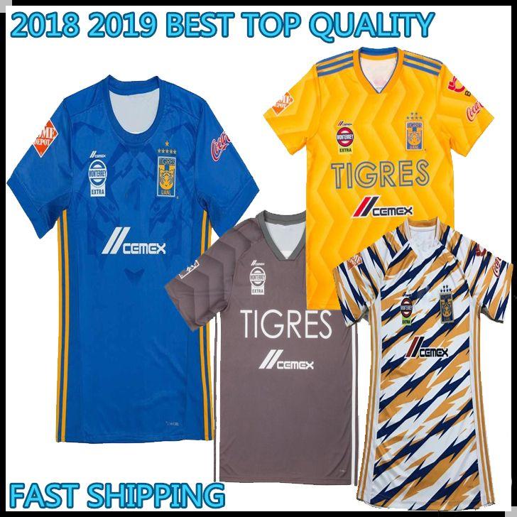 2018 2019 TOP THAI Mexican Club Tigres Camisetas De Fútbol De UANL 18 19  GIGNAC GUERRON SOBIS DUENAS Personalizar Local Amarillo En Lejos Tercer  Partido ... 701a3bb62033d