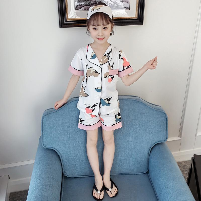 86241f50fed 2019 Children S Pajamas Women S Summer Cotton Short Sleeve Shorts Thin  Girls Girls Big Baby Baby Girl Home Service Set From Mahaitao