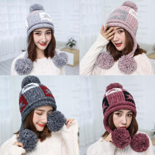ed9dc26270676 Fashion Warm Winter Women Beret Braided Baggy Knit Crochet Beanie ...