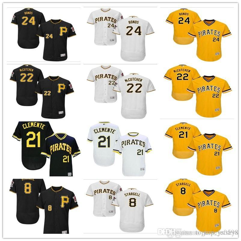 detailed look eed77 71fdd custom Pittsburgh Men s women youth Pirates Jersey #24 Barry Bonds 8 Willie  Stargell 22 McCutchen 21 Roberto Clement Baseball Jerseys