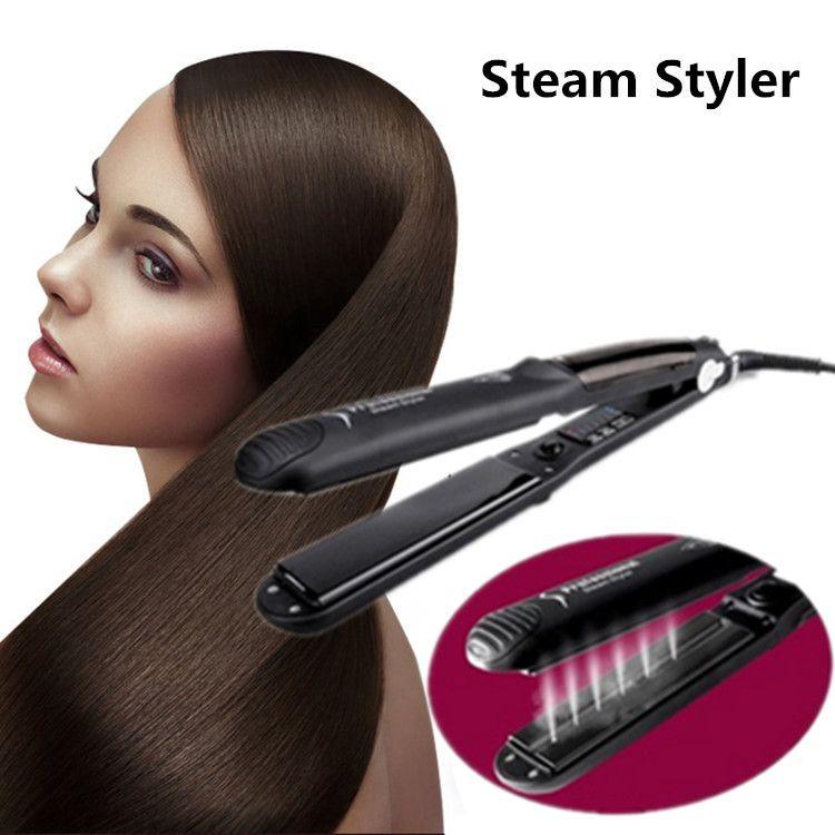 Newest Hair Straightening Salons Professional Hair Iron Straightener Steam Styler Tourmaline Ceramic Flat Irons Hair Styling Tool