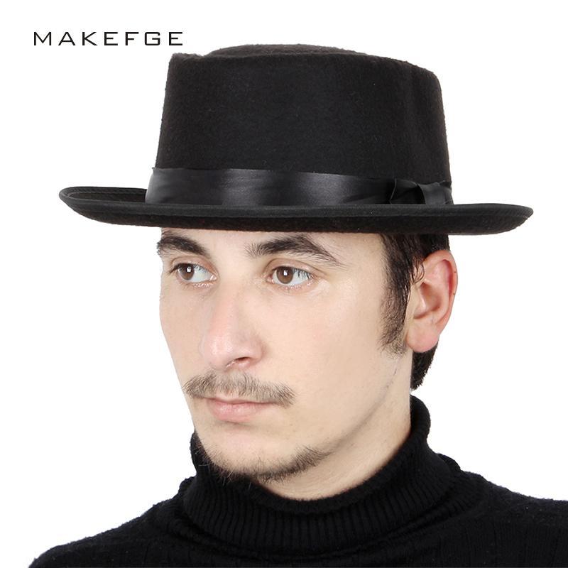 44abd25179349 2018 New Fashion Solid Color Cylinder Fedoras Hat Brim Winter Vintage Felt  Hats Man Woman Elegant Bow Knot Wool Flat Cap Dad Hat D19011103 Womens Hats  Hats ...