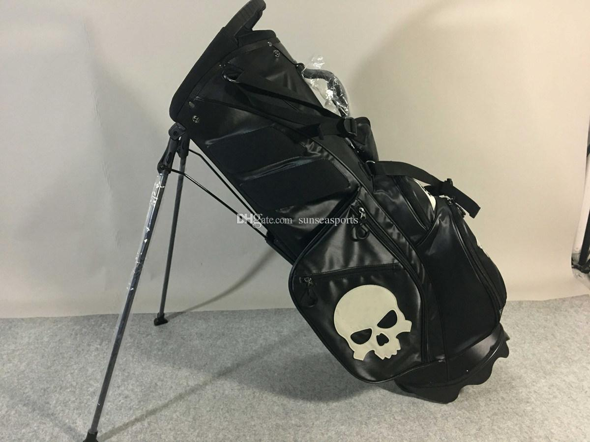 4cb752c1e Compre 2019 El Último Soporte De Golf Bolsa Para Hombre Doble Correa De  Hombro Soporte Pelota De Golf Bolsa Personalidad Cráneo De Gama Alta Bolsa  De Club ...