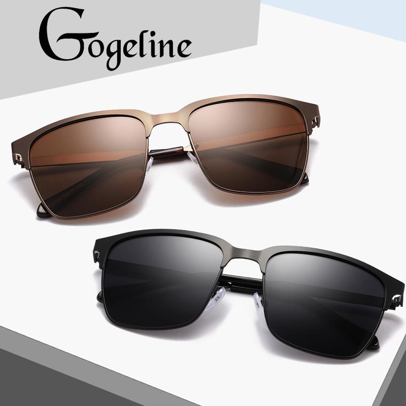 c4470cf2f Compre 2019 Gafas De Sol Para Hombre Polarizadas Gafas De Sol Cuadradas  Vintage Espejo UV400 Lente Marco De Metal Para Mujeres Hombres Aviación  Gafas De Sol ...