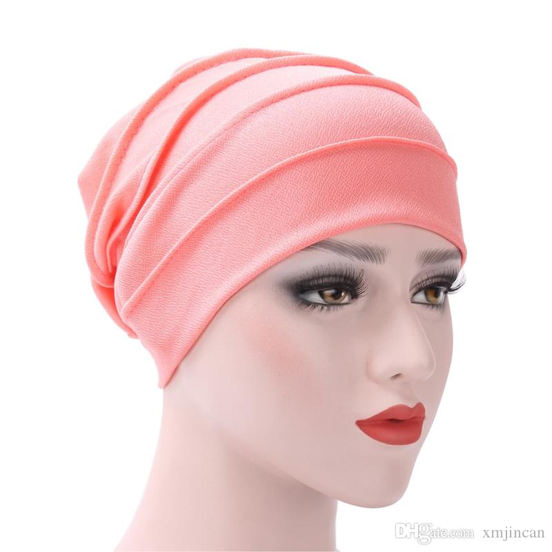 India Hat For Women Casual Cotton Soft Scarf Turban Beanie Cap Solid  Color Muslim Ruffle Chemo Hat Baseball Cap Slouchy Beanie From Xmjincan e6d60209e15