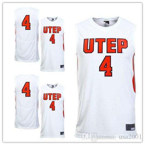best sneakers 8fa78 cc643 custom made #4 UTEP Miners College man women youth basketball jerseys size  S-5XL any name number