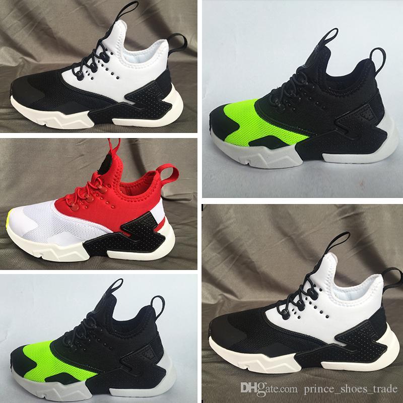 size 40 c3f20 4a5f2 Großhandel Nike Air Huarache 2018 Neue Designer Huarache 4 IV Laufschuhe  Für Kinder Jungen Mädchen Huarache Drift Sneakers Jugend Jogging Sport  Outdoor ...