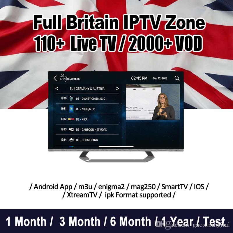 IPTV Subscription for Android TV Box 30 countries 6000 Live USA CA UK  Sports IT Spain Portugal France Adult channels IPTV Abonnement