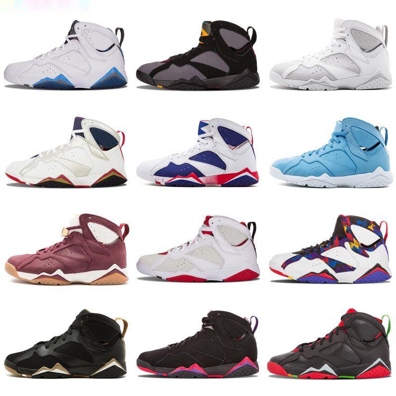 c41bce09543f Nothing But Net Jumpman 7 7s Mens Basketball Shoes Pure Money Golden  Moments Bordeaux VII Men Sport Designer Sneakers Trainers 40 47.