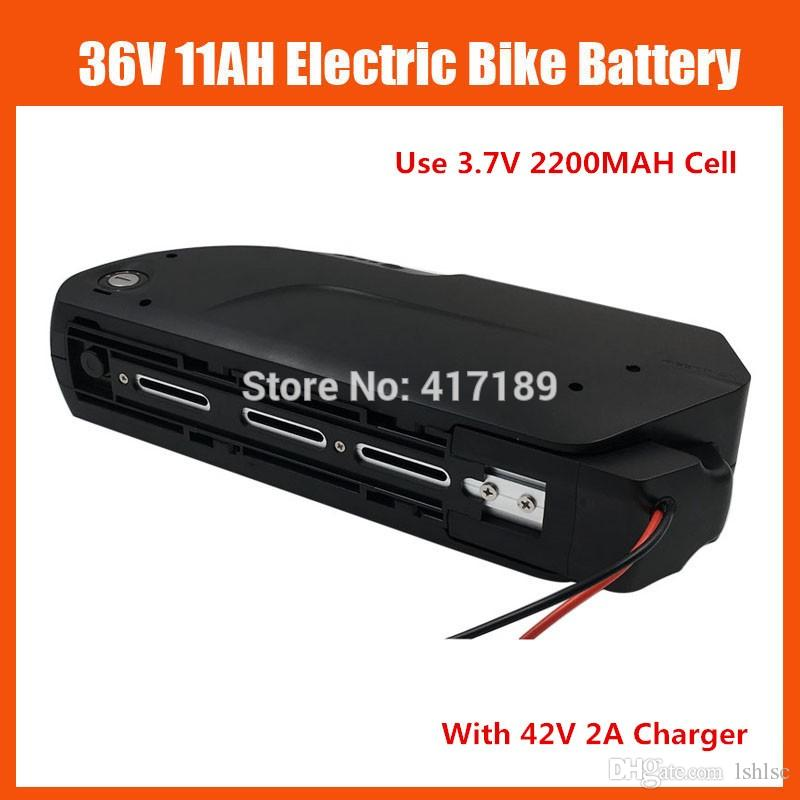 Hot sale 36V shark down tube Battery 36V 11AH lithium Bicycle battery with USB Port 15A BMS 42V 2A charger free shipping