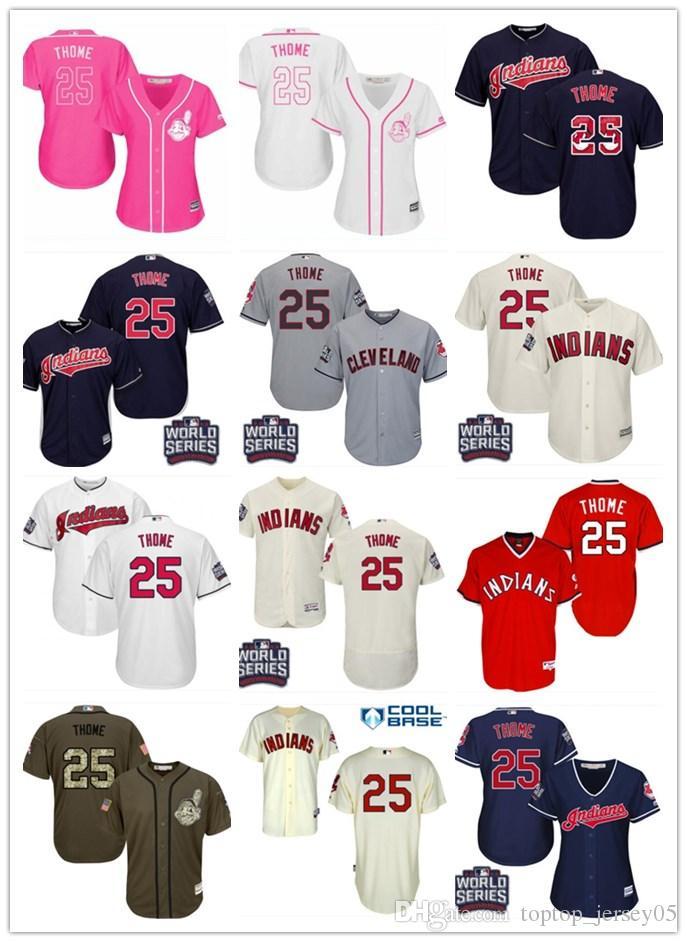 the latest 94761 4aa64 2018 top Cleveland Indians Jerseys #25 Jim Thome Jerseys  men#WOMEN#YOUTH#Men's Baseball Jersey Majestic Stitched Professional  sportswear