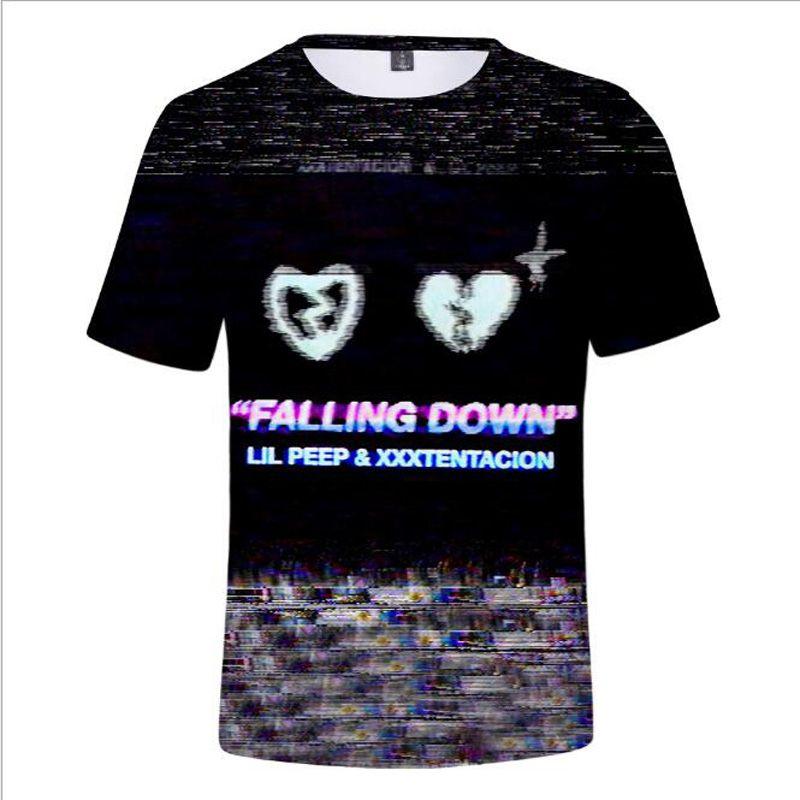 835bebd04 Hip Hop Rapper Lil Peep And XXXtentacion 3D T Shirt Women Men Summer Fashion  Cool Tees Hiphop Streetwear Funny Tshirt Brand Tops Tshirts Designs T Shirt  S ...