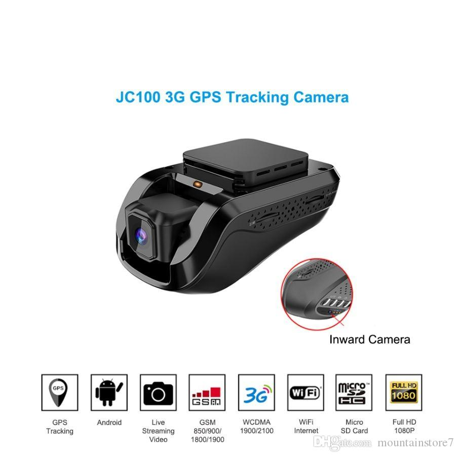 Newly 3G 1080P Smart GPS Tracking Dash Camera Car Dvr Black Box Live Video  Recorder & Monitoring by PC Free Mobile APP