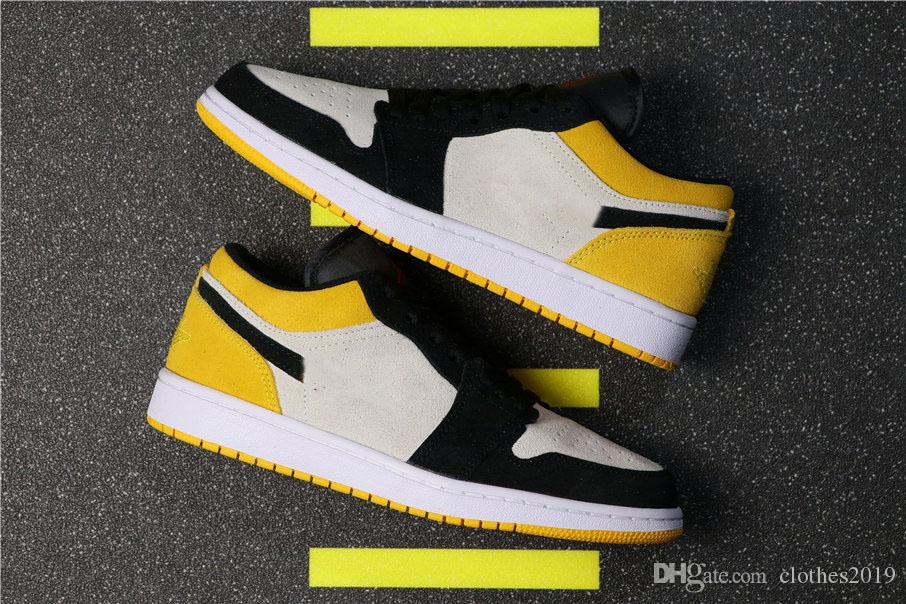 cdcc3a6cec1d 2019 New 1s Women Men Basketball Shoes 1 High OG University Gold Black  Yellow Toes Sports Designer Sneakers Athletic Shoes With Box From  Clothes2019