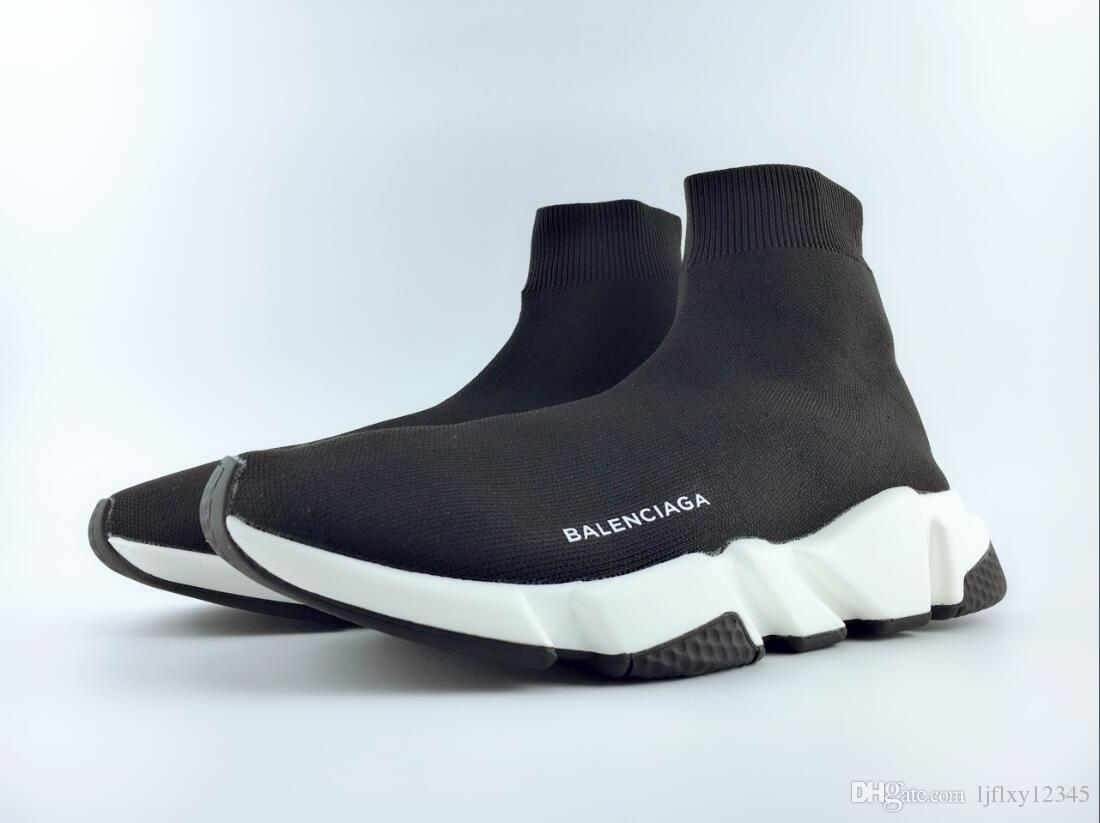 2018 High Quality Unisex Speed Trainer Casual Shoes Flat Sock Boots Women New Designer Sneakers Runner Men Sports Shoes Trainers EUR 36-45
