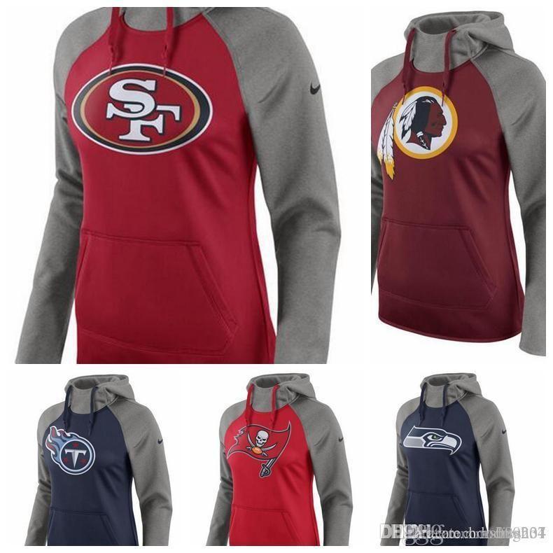 06eb6d1a Washington Redskins Titans Tampa Bay Buccaneers Seattle Seahawks San  Francisco 49ers Women's All Time Raglan Pullover Performance Hoodi