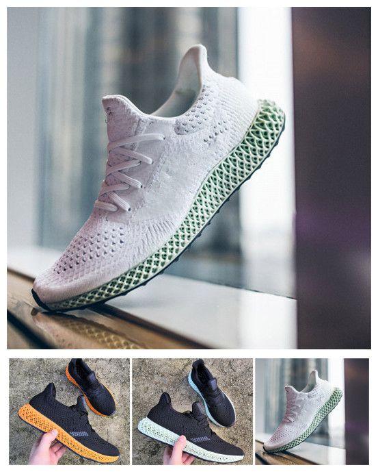 brand new 2c275 0574c Acheter Adidas Men Running 3.0 2019 Futurecraft 4D Runner Running Chaussures  3.0 Pour Hommes Femmes Frêne Vert Triple Noir Blanc Rouge Hommes Designer  ...