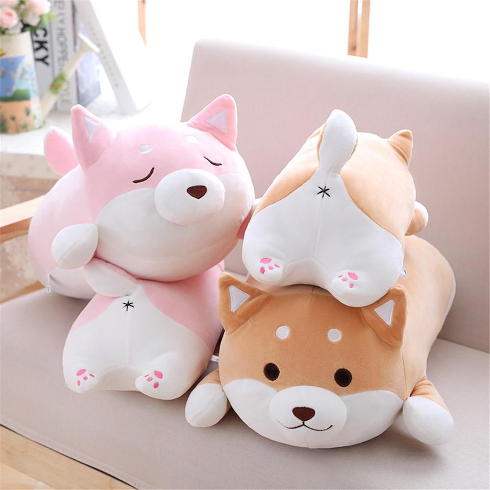 2019 Plush Pillows 3655 Cm Cute Fat Dog Toys Stuffed Soft Cartoon