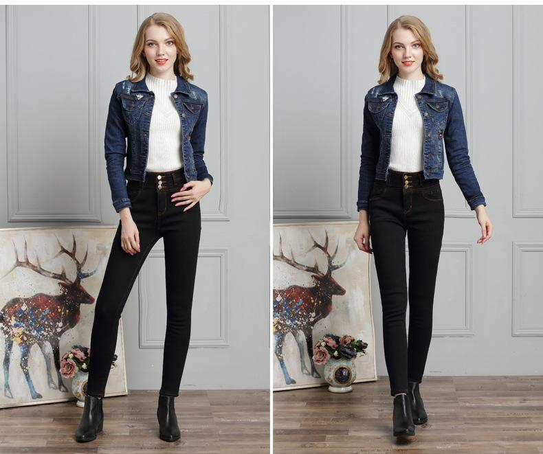 online store de0ac 83ced Inverno 2018 Giacche di jeans da donna europea ed americana, abiti da  donna, buchi in giacche di jeans all'ingrosso