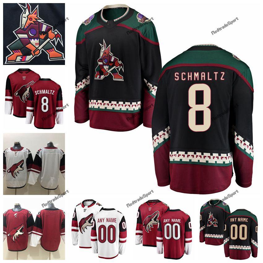 fcfe534f931 2019 2019 Customize Nick Schmaltz Arizona Coyotes Hockey Jerseys Custom Mens  Alternate Black #8 Nick Schmaltz Stitched Hockey Shirts S XXXL From ...