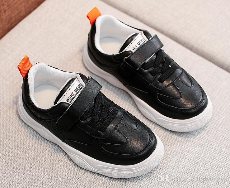 54796afc79 2019 yeni bahar çocuk Sneaker Unisex Rahat Sneaker siyah ...