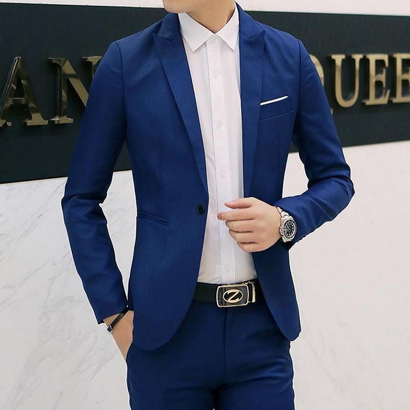 8 Colors Men Blazers Brand 2018 Korean Style Men's Blazers and Jacket Slim Fit Solid Casual Suits Jacket
