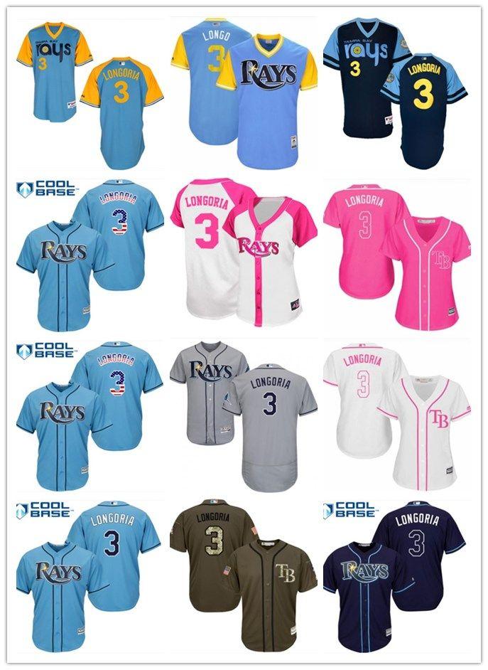 6c8ce350503 Top Can Tampa Bay Rays Jerseys  3 Evan Longoria Jerseys Men WOMEN ...