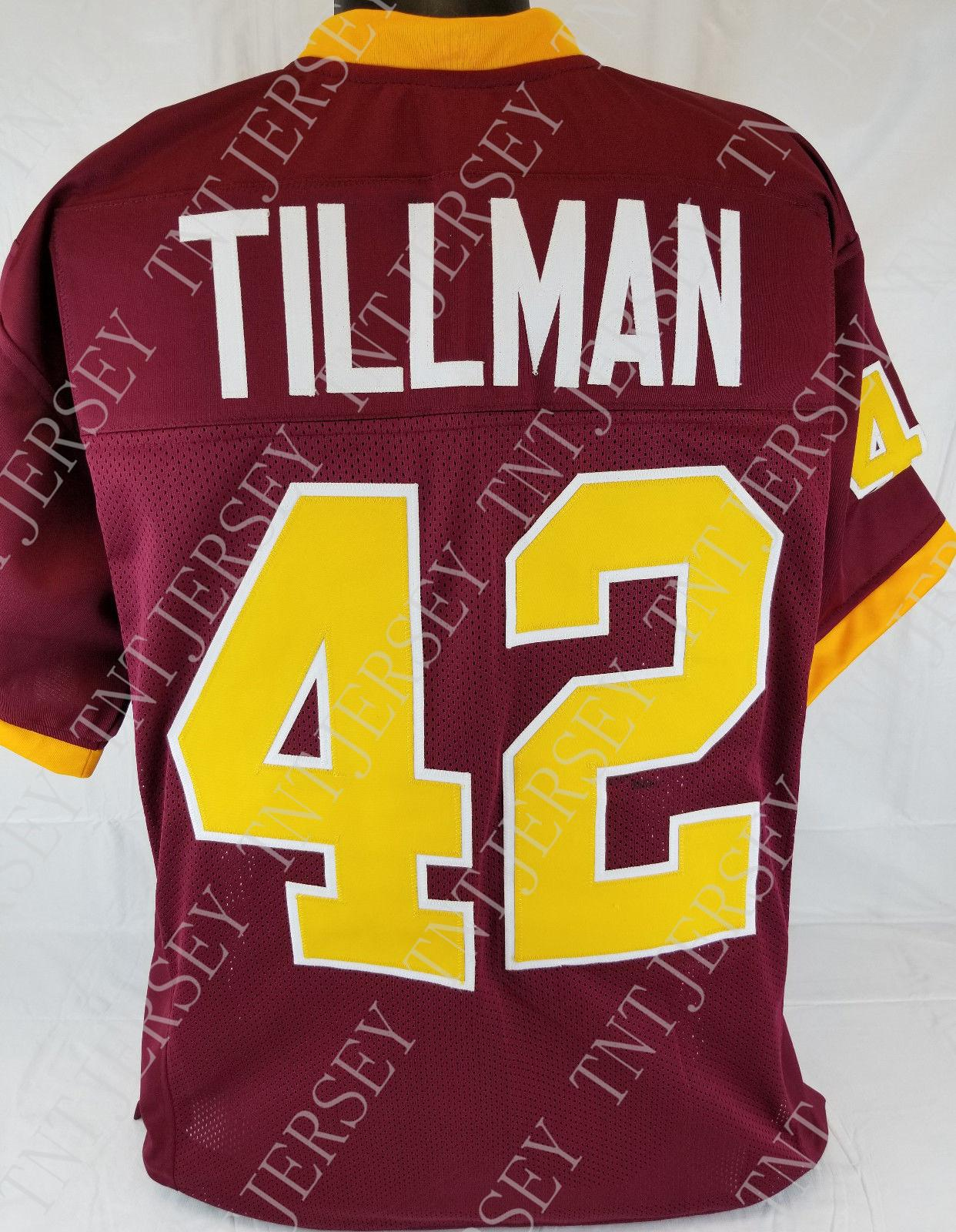 4969cccd Cheap custom Pat Tillman Maroon College Style Football Jersey Customized  Any name number Stitched Jersey XS-5XL