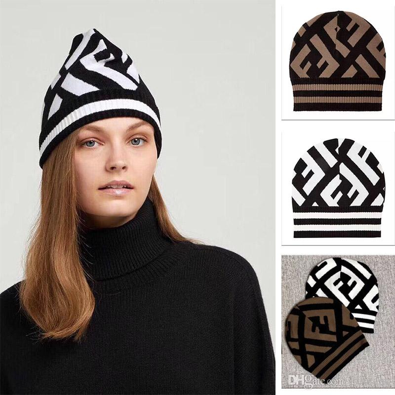 ab0fdf07a21a96 2019 New Cap Headband Fashion Beanie Hats for Men And Women Knitted ...