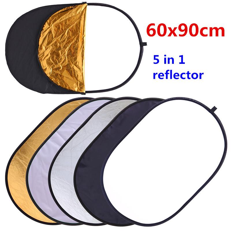 ight reflector CY 60x90cm 24''x35'' 5 in 1 Multi Disc Photography Studio Photo Oval Collapsible Light Reflector handhold portable photo d...