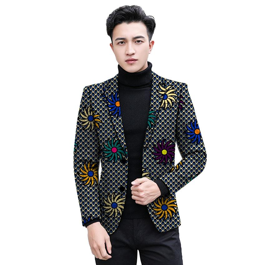 821cb69f African clothing men s print blazers slim fit ankara fashion suit jacket  customized for wedding wear male casual coat