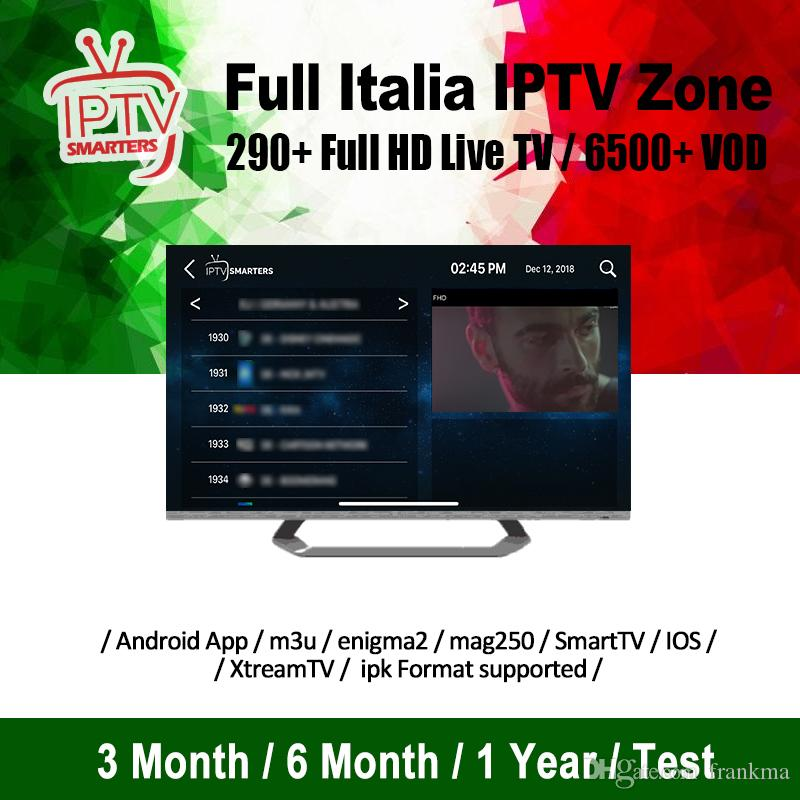 Italy Iptv Subscription With 290 FHD Live 6000 Vod For Smart TV M3U Mag Box  Android Device Free Test Abonnement Iptv With Adults Channels