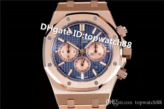 OMF Top Luxury 26331 Watch Complete Calendar Swiss 2385 Automatic Chronograph Sapphire Crystal Rose Gold Solid Case Back Mens Watch