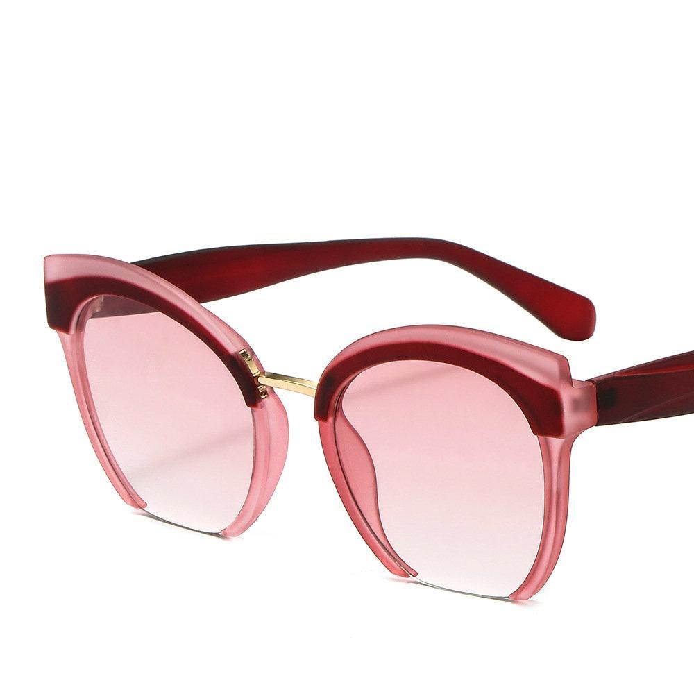 ba9403a6a941 2018 Luxury Brand Sunglasses Women Oversized Big Cat Half Frame Sun Glasses  Fashion Retro Female Sunglass Punk Shades NX Sunglases Cheap Designer  Sunglasses ...