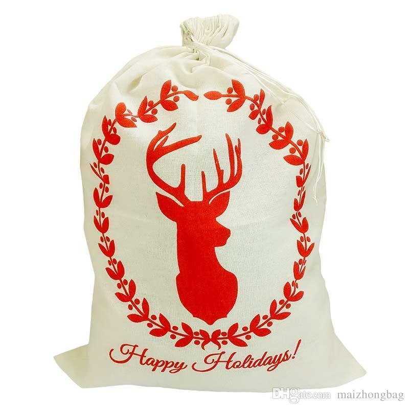 5 x Bulk Traditional Father Christmas Santa Sack Red stoking Bag Poison present