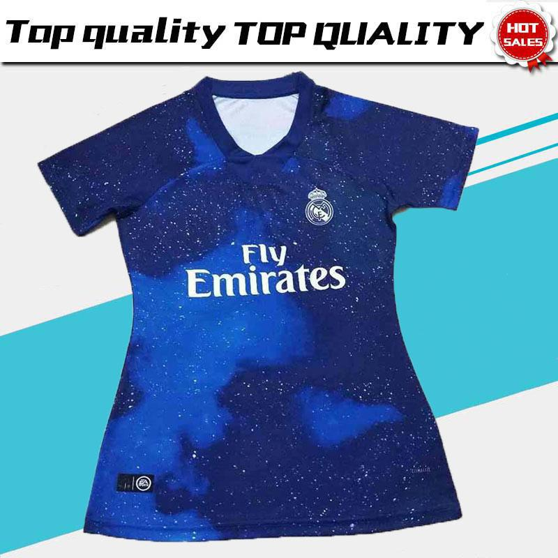 official photos 741cc 29da6 Limited Edition Real Madrid woman Blue Soccer Jerseys 2018 19 Real Madrid  EA Sports Women soccer Shirts 2019 Football uniforms ASENSIO girl