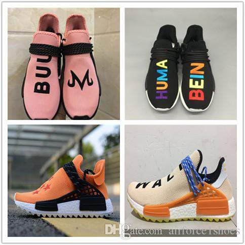 68e76583c 2018 Originals SOLARHU Pharrell Williams Human Race NMD Men Women Sports  Running Shoes Trail NERD MC Nmds Primeknit PK Runner R1 R2 Sneakers Toddler  Tennis ...