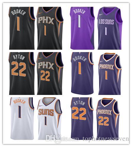 new product 6a761 c024a Phoenix Devin Booker DeAndre Ayton Suns Swingman basketball City Jersey  Icon Edition