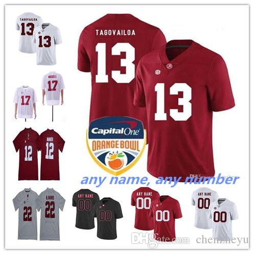 2019 NCAA Alabama Crimson Tide 13 Tua Tagovailoa 2 Jalen Hurts 3 Ridley 29  Fitzpatrick 9 Scarbrough Any Name Any Number College Football Jerseys From  ... 9cd72e55f
