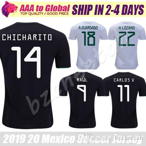 9336ea837 2019 Mexico Jersey 2020 Black HERNANDEZ G.DOS SANTOS M.LAYUN CARLOS Vela  Football Shirts 19 20 Mexico CHICHARITO Soccer Jerseys From Bzcheetah